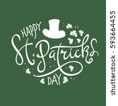 happy saint patrick's day... | Shutterstock .eps vector #593664455