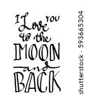 i love you to the moon and back....   Shutterstock .eps vector #593665304