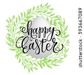 Happy Easter Lettering On The...