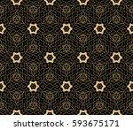 decorative ethnic ornament.... | Shutterstock .eps vector #593675171