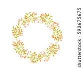 vector vintage wreaths with...   Shutterstock .eps vector #593675675