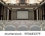 conference meeting room with... | Shutterstock . vector #593683379