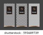 vector set packaging templates...   Shutterstock .eps vector #593689739