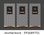 vector set packaging templates... | Shutterstock .eps vector #593689751