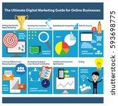 the ultimate digital marketing... | Shutterstock .eps vector #593698775