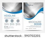 brochure template flyer design... | Shutterstock .eps vector #593702201