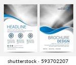 brochure template flyer design... | Shutterstock .eps vector #593702207