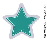 sticker star shape frame... | Shutterstock .eps vector #593704301