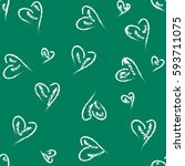 abstract seamless heart pattern.... | Shutterstock .eps vector #593711075