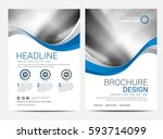 brochure or flyer design... | Shutterstock .eps vector #593714099