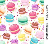 seamless pattern with colorful... | Shutterstock .eps vector #593726291