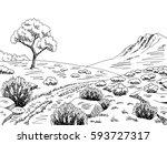 Heathland Graphic Black White...