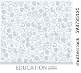 pattern for education and... | Shutterstock .eps vector #593735135