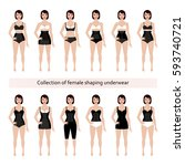 collection of female corrective ... | Shutterstock .eps vector #593740721