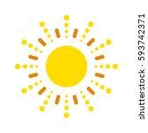 sun vector icon. star... | Shutterstock .eps vector #593742371