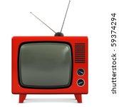 retro plastic television | Shutterstock . vector #59374294