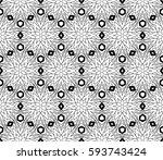 decorative ethnic ornament....   Shutterstock .eps vector #593743424