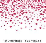 confetti hearts on white.... | Shutterstock . vector #593745155