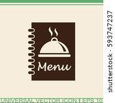 menu book vector icon.   Shutterstock .eps vector #593747237