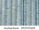 high rise residential building... | Shutterstock . vector #593747609