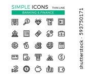 money  business  banking ... | Shutterstock .eps vector #593750171
