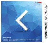 back icon | Shutterstock .eps vector #593753357