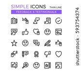 Stock vector testimonials feedback social network vector thin line icons set x px flat line graphic 593754374