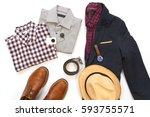 sets of man semi formal appeal... | Shutterstock . vector #593755571