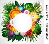 flowers spring design...   Shutterstock . vector #593757995