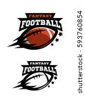 american football fantasy. two... | Shutterstock .eps vector #593760854