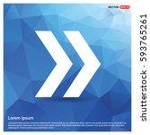 next arrow icon | Shutterstock .eps vector #593765261