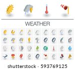 isometric flat icon set. 3d... | Shutterstock .eps vector #593769125