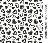 love theme hearts valentine's... | Shutterstock .eps vector #593770955