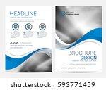 brochure or flyer design... | Shutterstock .eps vector #593771459