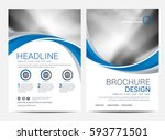 brochure or flyer design... | Shutterstock .eps vector #593771501