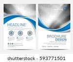 brochure or flyer design... | Shutterstock .eps vector #593771501