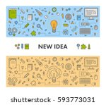 line design web concept and... | Shutterstock . vector #593773031