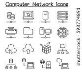 computer network   server...   Shutterstock .eps vector #593774891
