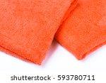 cotton  textile towel. hygiene... | Shutterstock . vector #593780711