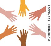 a set of hands symbolizing a... | Shutterstock .eps vector #593783015