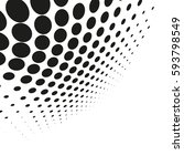 vector halftone dots. abstract... | Shutterstock .eps vector #593798549