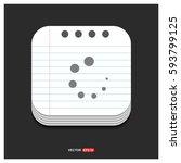 loading buffer icon  | Shutterstock .eps vector #593799125