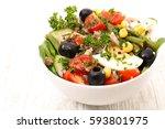 vegetable salad | Shutterstock . vector #593801975