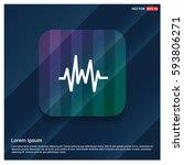 pulse line icon | Shutterstock .eps vector #593806271