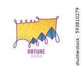 vector logo of nature elements... | Shutterstock .eps vector #593810279