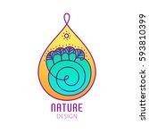 vector logo of nature elements... | Shutterstock .eps vector #593810399