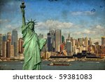 grunge new york city tourism... | Shutterstock . vector #59381083