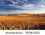 typical spanish landscape - stock photo