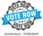 vote now. stamp. sticker. seal. ... | Shutterstock .eps vector #593818469
