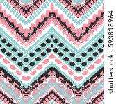 tribal ethnic seamless pattern. ... | Shutterstock .eps vector #593818964
